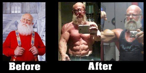 Santa before after